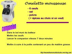 Omelette mousseuse au companion