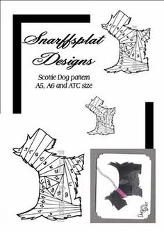 Scottie dog on Craftsuprint designed by Sarah Lake -  - Now available for download!
