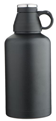MIRA Beer Growler, Stainless Steel, Insulated (Black)