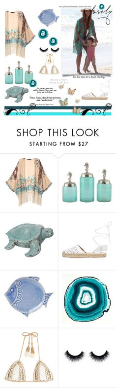 """""""Ocean Freedom"""" by alongcametwiggy ❤ liked on Polyvore featuring Maiden Lane, Juliska and SHE MADE ME"""