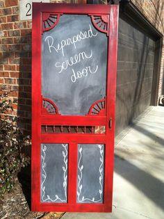 Beautiful re-purposed screen door for sale! $175