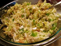 Finally, I found the recipe for Chinese Noodle Slaw. Veggie Recipes, Salad Recipes, Dinner Recipes, Chinese Noodle Salads, Napa Cabbage Recipes, Egg And Cheese Sandwich, Salad Dressings, Soup And Salad, Food Inspiration