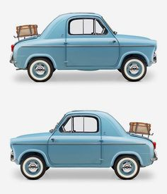 like a cartoon but real  1957 Vespa 400