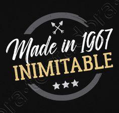 Camiseta Made in 1967 Inimitable. - nº 1305066 - Hombre, manga corta, negra, calidad extra. Sol's 190 gr/m2: 100 algodón semipeinado, 24/S hilo Ring Spun de calidad superior. Algodón preencogido. Tapacosturas reforzado en el