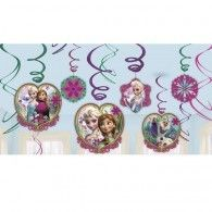 Party Time Celebrations  - Frozen Party Hanging Swirl Decorations, $9.95 (http://www.partytimecelebrations.com.au/frozen-party-hanging-swirl-decorations/)