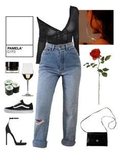 """hello again"" by demirese on Polyvore featuring Yves Saint Laurent, Vans, Riedel, Givenchy, PAM and Illamasqua"