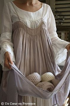 pretty lagenlook scandi ,folk style pinafore dress and smock peasant blouse Robes Country, Mode Style, Style Me, Mode Hippie, Look Fashion, Womens Fashion, Sewing Aprons, New Shape, Mori Girl