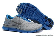 Discounts Cool Grey Blue Mens Nike Free 4.0 V2 511472-008