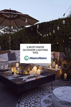 Good lighting is crucrial in creating a special atmosphere outside, and easily becomes the star element of your terrace or garden during warm evenings. Here are a few tips for your outdoor lighting, so you can make the best out of your favourite outdoor spot. Outdoor Wall Lighting, Landscape Lighting, Outdoor Walls, Cool Lighting, Hanging Garland, Hanging Lights, Pool At Night, Floating Lights, Led Light Fixtures