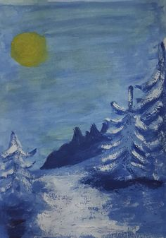 Winter landscape. Painting, 2020 Jarmo Leppinen Winter Landscape, My Arts, Artwork, Painting, Work Of Art, Winter Scenery, Auguste Rodin Artwork, Painting Art, Artworks