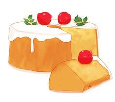 Tube Cake by on DeviantArt Cute Animal Drawings Kawaii, Cute Little Drawings, Cute Drawings, Dessert Illustration, Kawaii Illustration, Cute Food Art, Cute Art, Cute Bakery, Kawaii Dessert