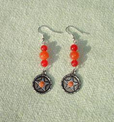 Gemstone Pentagram Dangle Earrings - FREE Shipping