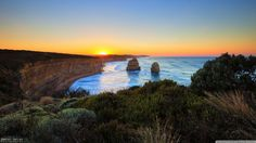 widescreen wallpaper twelve apostles by Cherish Peacock Widescreen Wallpaper, Wallpapers, Desktop Backgrounds, Think Happy Thoughts, Abraham Hicks, Around The Worlds, Sky, Sunset, Nature