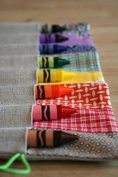 crayon holder - be handy for restaurant meals and at friend's places with a mini pad.