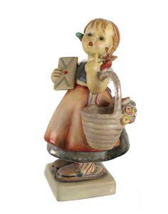Large Goebel Hummel Figurine Meditation 13/2 Full Crown stamp c1935 TMK-1 Rare #Goebel
