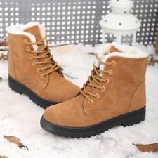 Women's Snow Boots Warm Suede Ankle Fur Thicken  Shoes Ski Flats Casual Winter