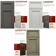 Product update! Checkout MORE New #Door Styles from #Ultracraft. These Door styles come with a recessed center panel are in for all styles, from #traditional to #contemporary:  #CHESAPEAKE Wood Door, #LAFAYETTE Wood Door, #LAKEWAY Wood Door all available with either a standard slab or optional 5-piece matching drawer front.