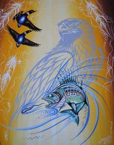 Salmon eagle mergansers -Gordon Fiddler