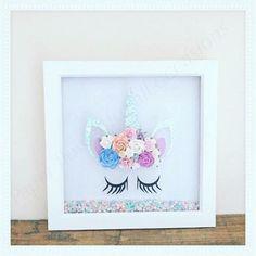 Unicorn & paper flower frame. Made to order https://m.facebook.com/paperflowerswedding/
