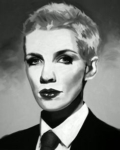 Annie Lennox Painting Fine Art Print (Annie Lennox - Eurythmics - Sweet Dreams - New Wave - Diva - Walking on Broken Glass - Female singer - Icons)