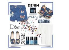 """""""Denim"""" by outfitsloveyou ❤ liked on Polyvore featuring RED Valentino, Valentino and Christian Dior"""