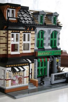 This is my modular bakery and hardware store submitted to Lego cuusoo