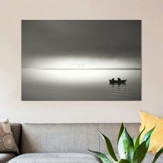 East Urban Home 'Going Fishing' Photographic Print on Canvas Size: 26'' H x 40'' W x 0.75'' D