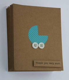 Baby Shower Thank You Card Set Set includes 50 handmade Thank you cards that measure approx 4X6 Great for baby shower thank yous! Each card