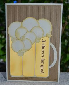 Guest Designer with a Mug full of Beer, Christies Creative Corner, Stampin' Up!, happy Hour, male Card