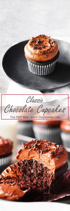 MPOWER/// One for your recipe box, these Classic Chocolate Cupcakes are soft, moist, and offer rich chocolate flavor that will satisfy any chocolate craving.
