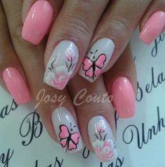 Bridal Nails, Pedicures, Beautiful Nail Art, Nail Arts, Beauty Ideas, Summer Nails, Nail Designs, Style, Rose Nails