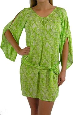 I'm selling Daydream Dress Python Print Lime - A$59.95 #onselz