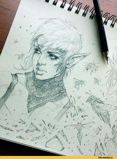 drawingfixx,Сэра (DA),DA персонажи,Dragon Age,фэндомы,DAI