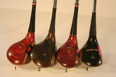 Vintage Wood Golf Clubs Man Cave Decor Father's by JoyousVintage, $10.00 and up. SOLD
