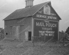 "/""8x10/""  Lancaster Pennsylvania various ads on barn Old Vintage Photo Reprint"