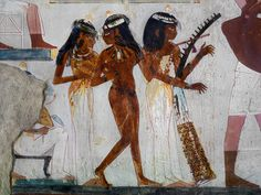 Musicians, Tomb of Nakht, Valley of the Nobles, Egypt