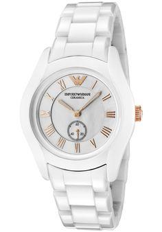 (Limited Supply) Click Image Above: Emporio Armani Women's Ceramica White Dial White Ceramic Watch Armani Watches, Emporio Armani, Michael Kors Watch, White Ceramics, Bracelet Watch, Quartz, Pearls, Band, Stuff To Buy