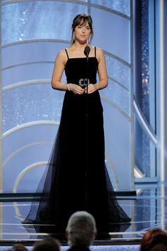 Perfection! Dakota Johnson at Golden Globes Cr. @50tonsdecinza