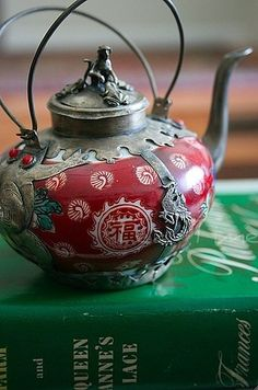 Red Chinese Teapot. by adriana