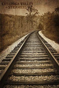 Train tracks photo.