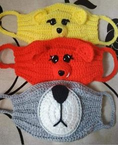 mask how to make one Crochet Mask, Crochet Faces, Crochet Toys, Free Crochet, Knit Crochet, Easy Crochet Patterns, Crochet Stitches, Sewing Patterns, Crochet Toddler