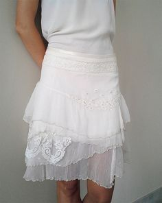 EperShabbyArt original skirt 100% cotton lace