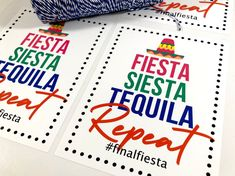 Bachelorette Party Weekend Favors, Final Fiesta Siesta, Welcome Bag Personalized Sticker Wedding Hotel Bags, Wedding Tags, Wedding Favors For Guests, Bachelorette Party Favors, Bachelorette Weekend, Nail Polish Favors, Personalized Stickers, Personalized Gifts, Alcohol Gifts
