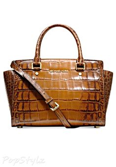 e621fa6236ad01 Save on the Michael Kors Selma Large Tz Luggage Brown Leather Satchel! This  satchel is a top 10 member favorite on Tradesy.