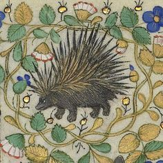 angry porcupine    Hours of Margaret of Orléans, Rennes 1426