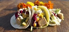 Trust us when we tell you, these vegan/vegetarian tacos are as delectable as they look.  #taco #tacocatering #corporatecatering #privatecatering #rastataco #catering