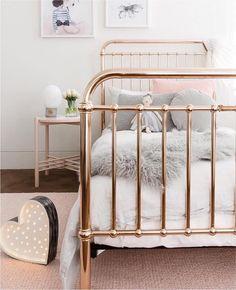 Gold bedframe