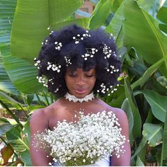 "naturalafricangoddess: "" ab.k_ "" Wedding Looks, Dream Wedding, Wedding Day, Wedding Wishes, Wedding Things, Ombré Hair, Her Hair, Afro Hairstyles, Bride Hairstyles"