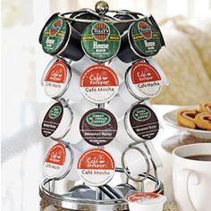 Storage for our K-cups. I love to spin it around and see what kind I want!