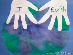 Earth Day Coffee Filter & Handprint Art